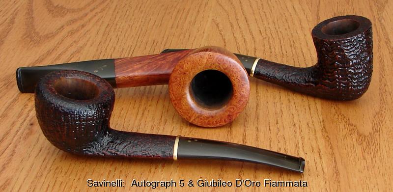 Four Savinelli Savinelli_Autograph-5_and_two_giubileo_d-oro_fiammata_1